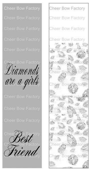 Diamonds are a Girls Best Friend Sublimation Cheer Bow Graphic