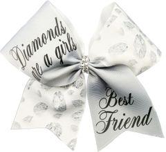 Diamonds Are A Girls Best Friend Cheer Bow