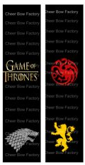 Game of Thrones Sublimation Cheer Bow Graphic
