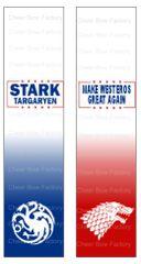 Stark Targaryen Game of Thrones Sublimation Cheer Bow Graphic