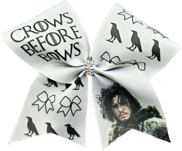 Crows Before Bows Game of Thrones Cheer Bow