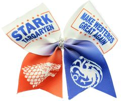Stark Tagaryen Game of Thrones Cheer Bow