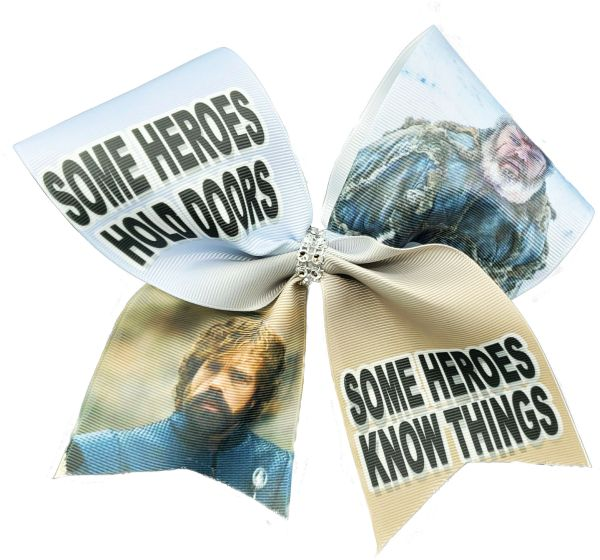 Some Heroes Hold Doors Some Heroes Know Things Game of Thrones Cheer Bow