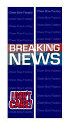 Breaking News Cheer Bow Ready to Press Sublimation Graphic