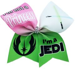 I'm Not a Princess I'm a Jedi Cheer Bow