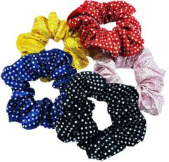 Mystique Fabric Full Bling Rhinestone Scrunchie