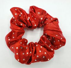 Mystique Fabric Light Bling Rhinestone Scrunchie