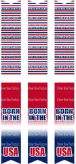 Born in the USA Keychain Sublimation Cheer Bow Graphic