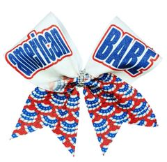 American BABE Glitter Cheer Bow