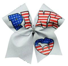 Pink Independence Day Cheer Bow