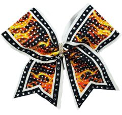 The Molly Flames Rhinestone Cheer Bow