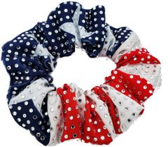 4th of July Full Bling Rhinestone Scrunchie