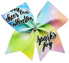 My Cheer Bow Collection Sparks Joy Cheer Bow