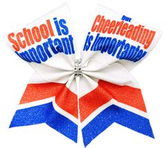 School is Important but Cheerleading is Importanter Cheer Bow