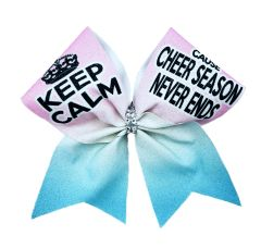 Keep Calm Cause Cheer Season Never Ends Cheer Bow