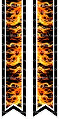 Center Strip Flames Ready to Press Sublimation Graphic