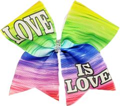 Love is Love Pride Rainbow Awareness Cheer Bow