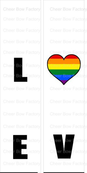 LOVE Pride Awareness Ready to Press Sublimation Graphic