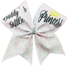 Daddy's Little Princess Glitter Vinyl Cheer Bow