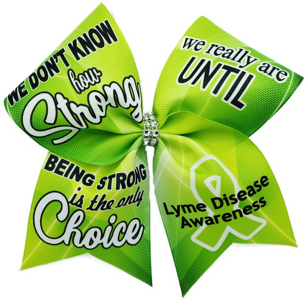 Lyme Disease Awareness Cheer Bow