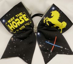 Equestrian May The Horse Be With You Star Wars Ribbon Cheer Bow