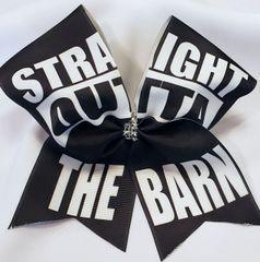Equestrian Straight Outta The Barn Ribbon Cheer Bow