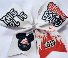 Summit Bound 2019 Glitter Vinyl Cheer Bow