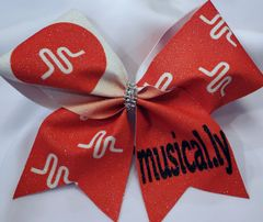 Musically Glitter Vinyl Cheer Bow