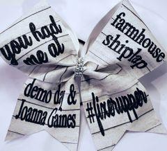 Joanna Gaines Fixerupper Glitter Vinyl Cheer Bow Clearance
