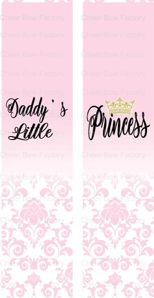 Daddy's Little Princess Ready to Press Sublimation Graphic