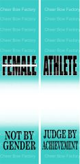 Female Athlete Ready to Press Sublimation Graphic