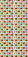 Pizza And Donuts Emoji Ready to Press Sublimation Graphic