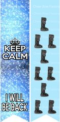 Keep Calm I Will Be Back Leg Boot Injury Ready to Press Sublimation Graphic