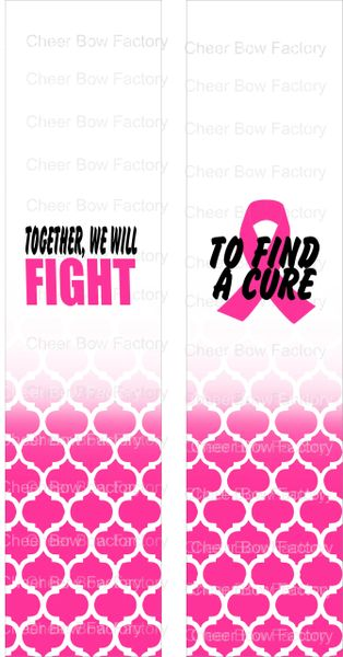 Together We Will Fight hot pink Breast Cancer Awareness Ready to Press Sublimation Graphic