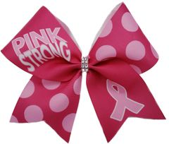 Pink Strong Breast Cancer Awareness Cheer Bow