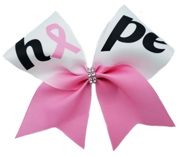 Hope Breast Cancer Awareness Cheer Bow