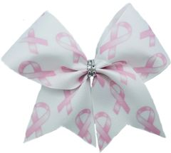 Breast Cancer Awareness Ribbon Pattern Cheer Bow