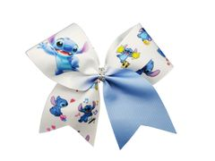 Stitch Glitter Vinyl Cheer Bow