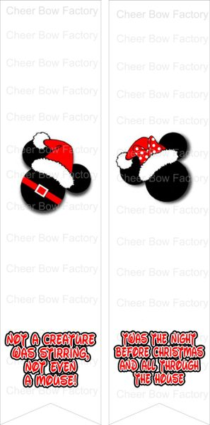 Twas the Night Before Christmas Mickey Minnie Ready to Press Sublimation Graphic