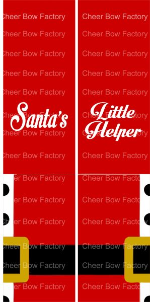 Santa's Little Helper Christmas Ready to Press Sublimation Graphic