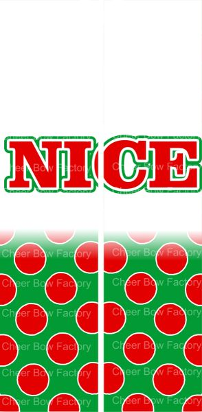 Nice Christmas Ready to Press Sublimation Graphic