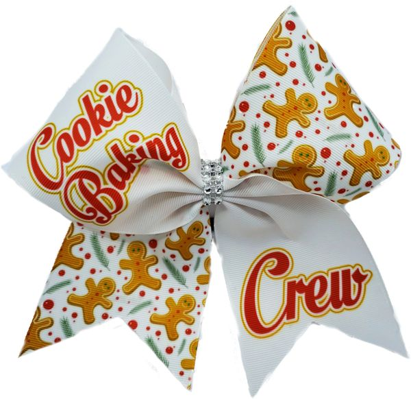 Cookie Baking Crew Christmas Cheer Bow