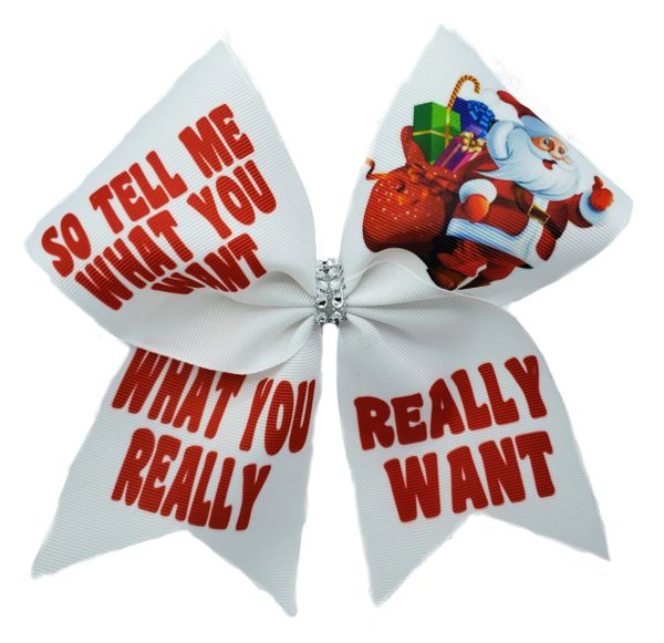 So Tell Me What You Want What You Really Really Want Christmas Cheer Bow