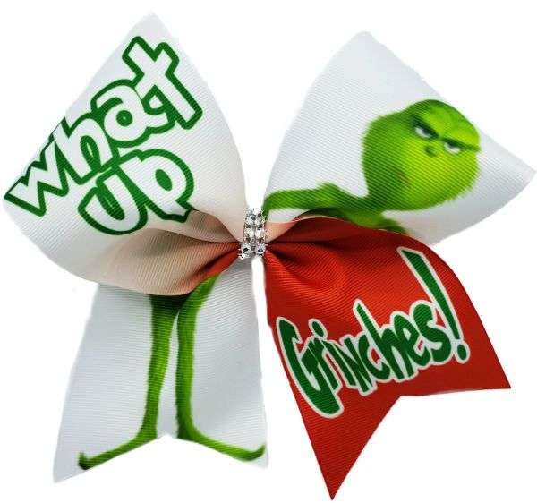 What Up Grinches? Christmas Cheer Bow