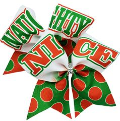 Naughty Nice Christmas Cheer Bow