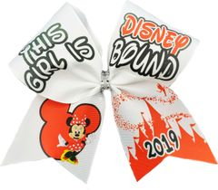 This Girls is Disney Bound Glitter Vinyl Cheer Bow - custom year