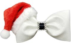Santa Hat & Buckle Tailless Cheer Bow