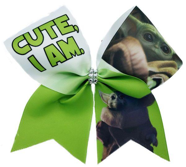 Baby Yoda Cheer Bow