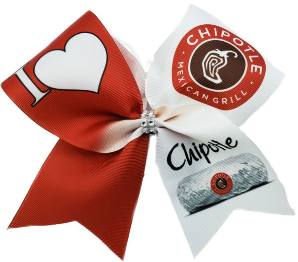 I Love Chipotle Cheer Bow