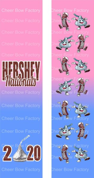 Hershey Nationals Cheer Bow Ready to Press Sublimation Graphic